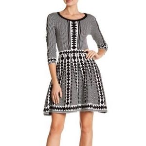 🌟2XHP!🌟Nina Leonard Geometric Sweater Dress